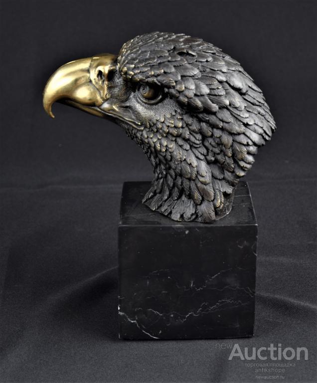 статуэтка Сокол Орел  бронза мрамор Доставка бесплатно !