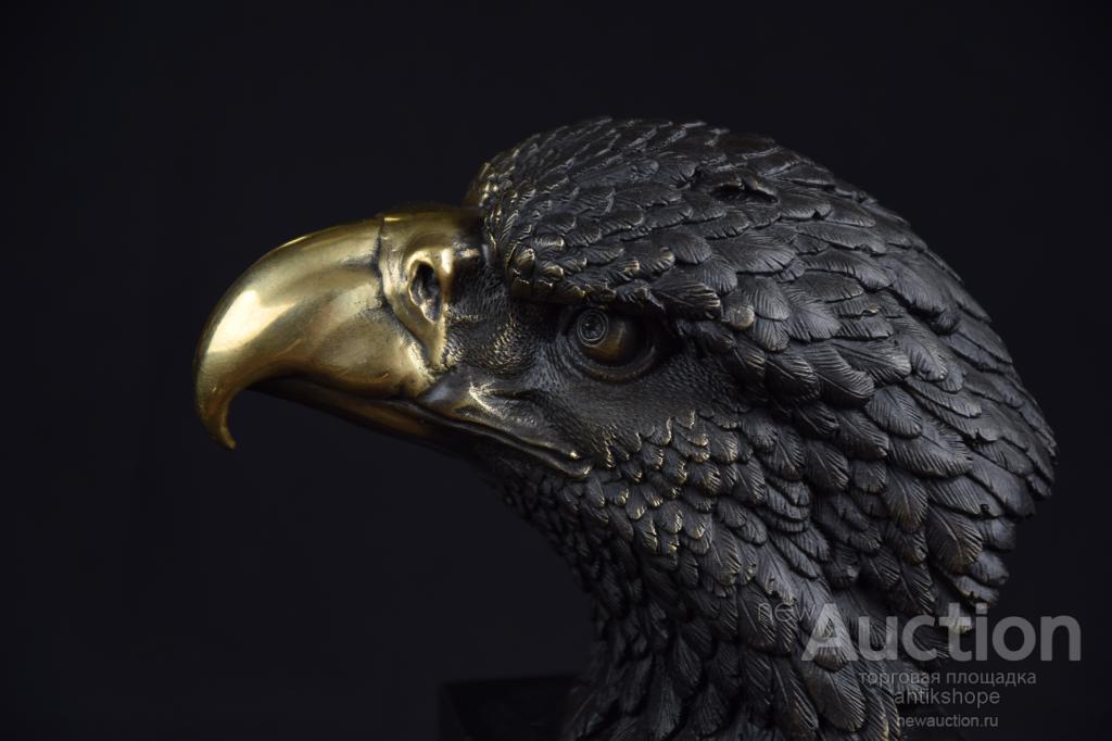 статуэтка Сокол Орел  бронза мрамор