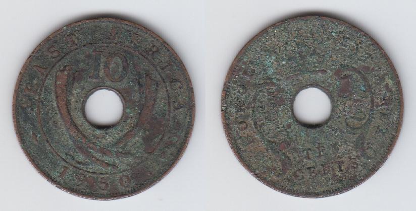 Британская Восточная Африка 10 центов 1950 _4