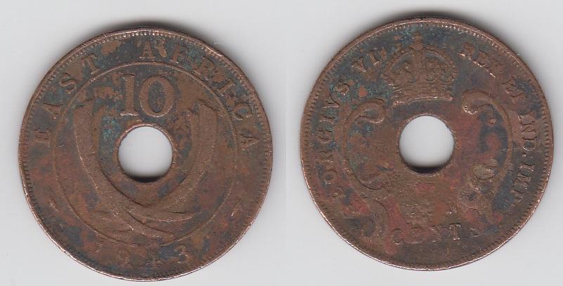 Британская Восточная Африка 10 центов 1943 _8