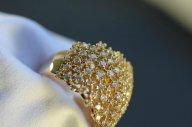 Кольцо Della Riva (Италия) 1.81кт бр. Оригинал. Розовое золото