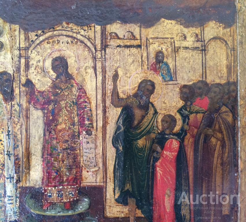 Старинная икона Покров Пресвятой Богородицы, по золоту, Московская школа,19 век! Редкий извод!