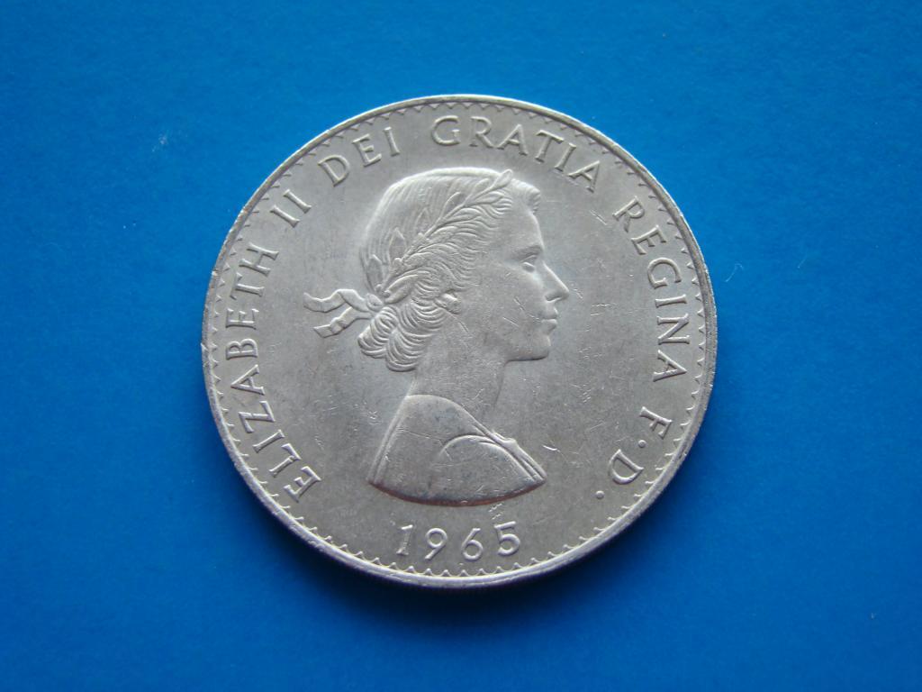 Великобритания 1 крона 1965 года. ЧЕРЧИЛЬ.   #7084
