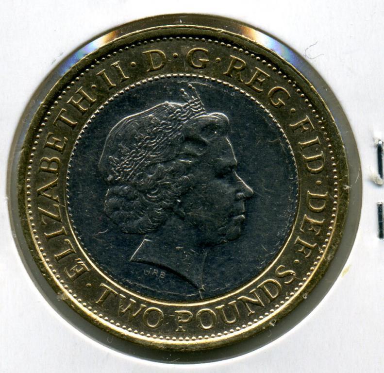 2 фунта - Великобритания - 2007 - Работорговля - биметалл