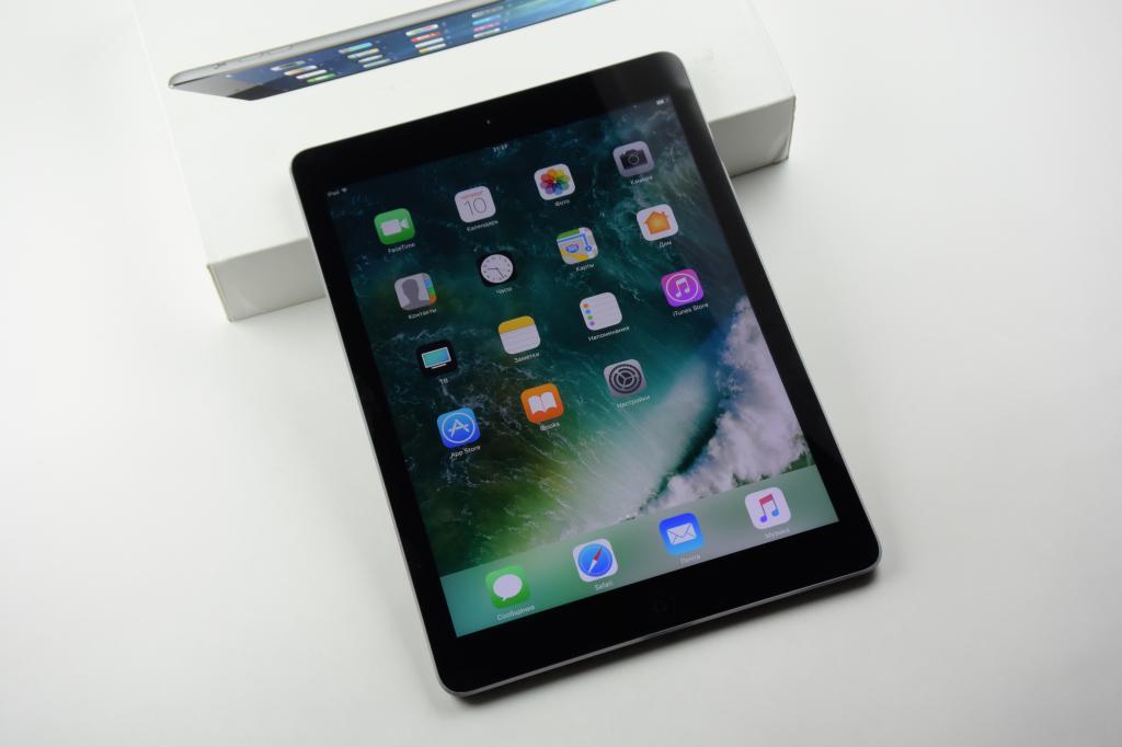 Apple iPad Air 16 Гб. Wi-Fi ( Оригинал, Полный Комплект ) - Аукцион с 1-го рубля