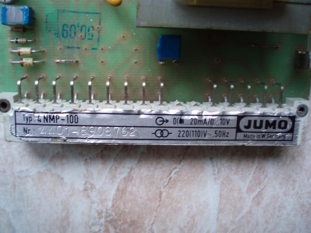 Плата стабилизированного источника питания JUMO Type: 4NMP-100. U вх = 220v, U вых = 0-10v