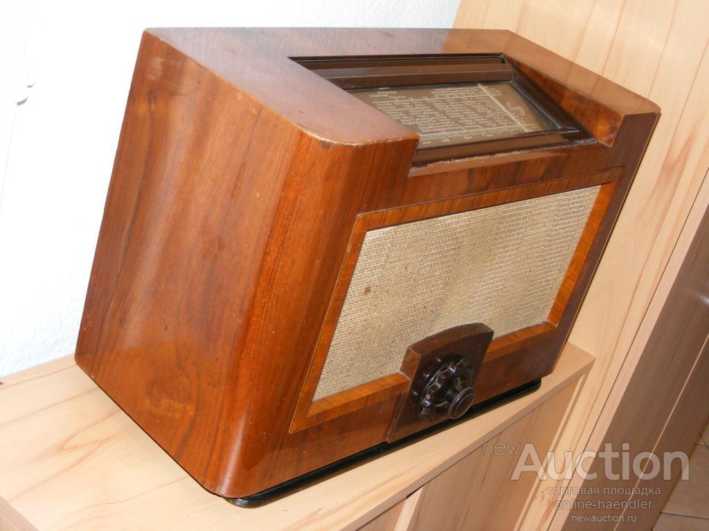 PHILIPS AACHEN SUPER D 52 AU Антикварное Винтажное Ламповое Радио