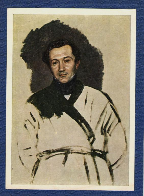 Живопись. Брюллов. Портрет П.В.Кукольника.