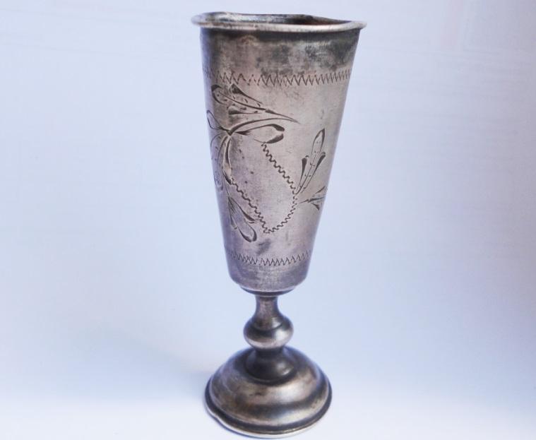 старинная рюмка стопка серебро 84 Россия мастер В.М.Р.