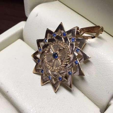 Звезда Эрцгаммы (золото c сапфирами)