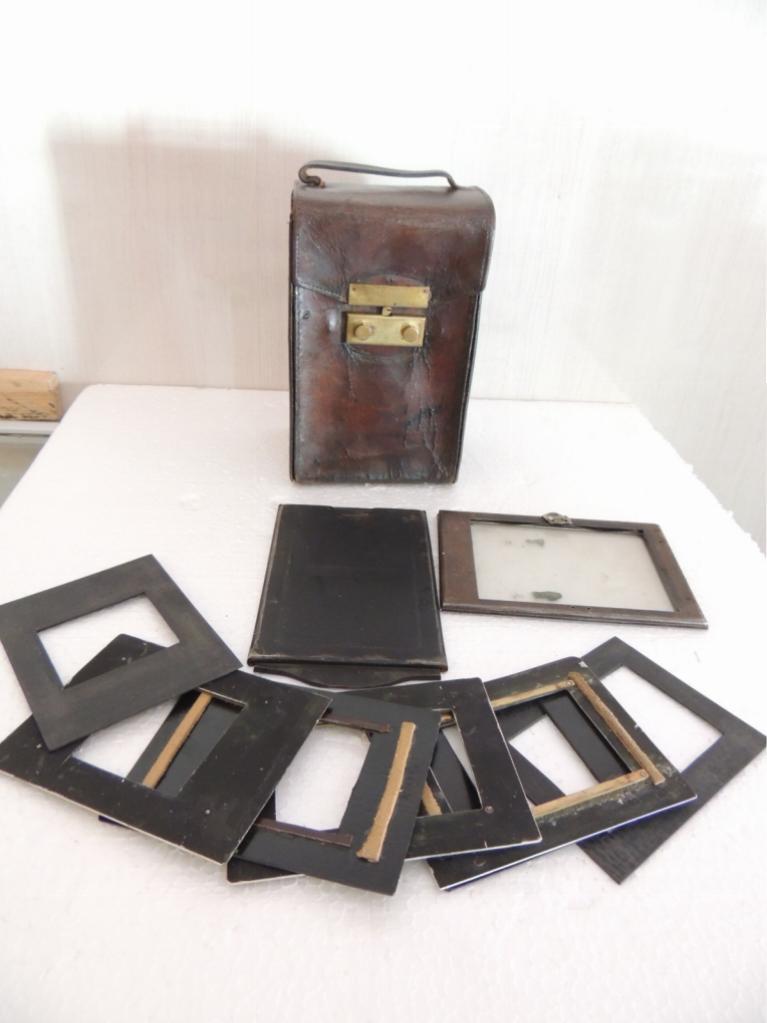 Старинный Кофр для фотоаппарата + пластины   С Рубля сохран