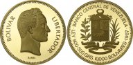 Венесуэлла 10000 боливар 1987, PROOF, золото (900) - 31,1 гр