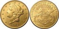 США 20 долларов 1882, AU, золото (900) - 33,44