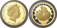 Австралия 100 долларов 2000 Олимпиада, PROOF, золото (999) - 10 гр