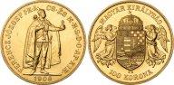 Венгрия 100 крон 1908, UNC, золото (900) - 33,9 гр