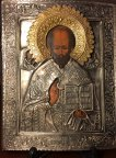 Икона Николай Чудотворец, вторая половина 19 века, размер 22х17.5.
