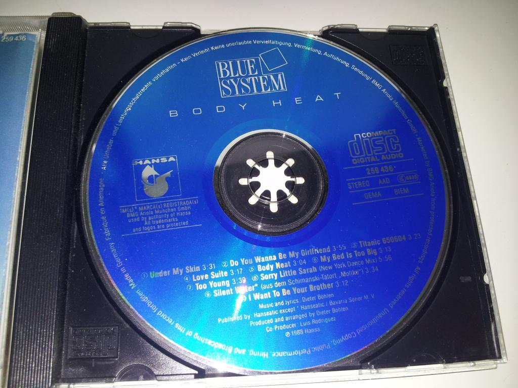 BLUE SYSTEM Body Heat 1988 (лот 2)