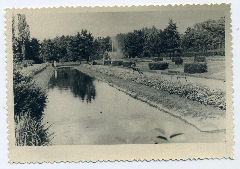 город Личница Польша парк 9 х 12,5 см 1953 год