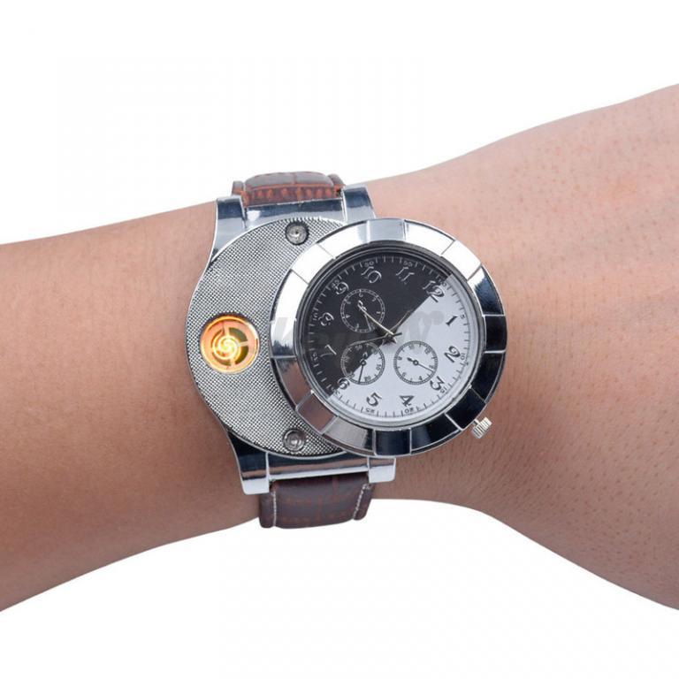 Часы с Встроенной Беспламенной Зажигалкой.