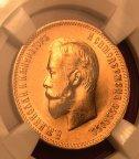 Золотая монета 10 рублей 1903 Николай II, АР, СЛАБ MS63, Au900, С РУБЛЯ!