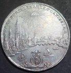 Талер Франкфурт 1772 года,панорама города