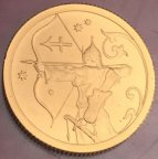 Золотая монета 25 рублей