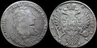 Рубль 1734 R с рубля