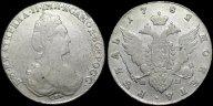 Рубль 1782 СПБ ИЗ с рубля