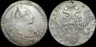 Рубль 1735 с рубля