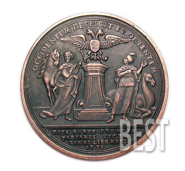 Настольная медаль Петр 1 в память полтавской битвы 1709 медь