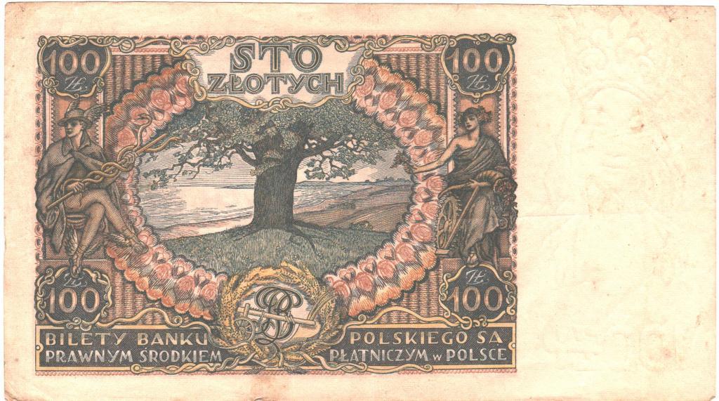 100 злотых 1934 года Польша Хорошая!!!Нечастая!!!