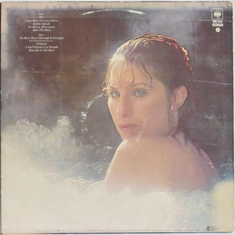 """Barbra Streisand (With Donna Summer) """"Wet"""" 1979 Lp"""