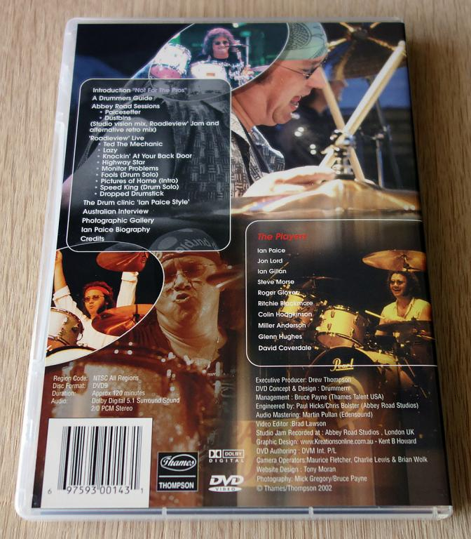 Ian Paice - Not For The Pro's (DVD, NTSC)
