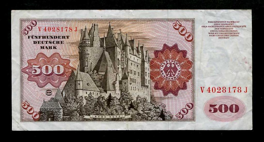Германия ФРГ 500 марок 1977 Редкие №5436,,