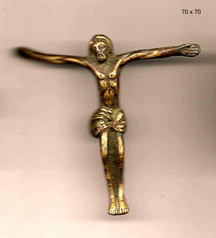 Распятие Христово бронза 7см.