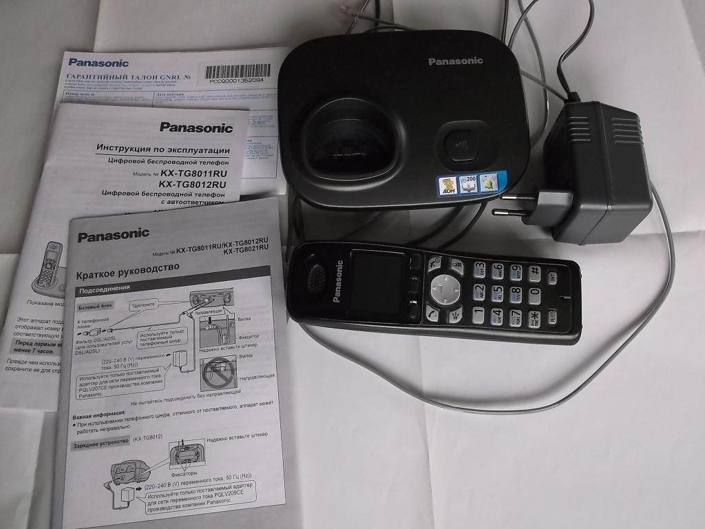 Телефон Панасоник Panasonic KX-TG 8011 RU + все инструкции