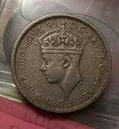 Монета 3 пенса . Британская западная Африка 1940г.