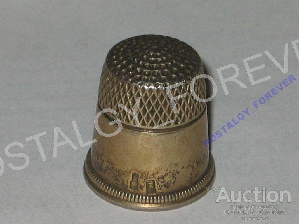 Наперсток старинный серебро 875 СССР Ленинград