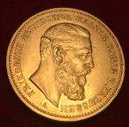 Золотая монета 20 марок 1888г.