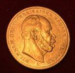 Золотая монета 20 марок 1872г.