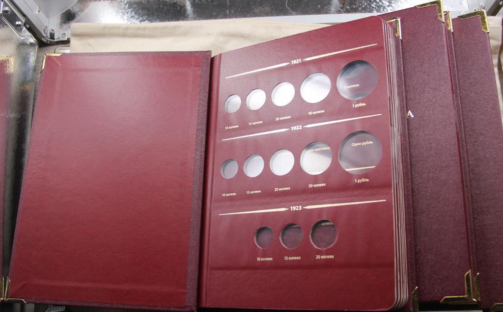 Б/У Три альбома для регулярных монет с 1921- 1991  погодовка Том 1  2 3 АЛЬБОНУМИЗМАТИКО ALBONUMISMA