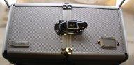 Бокс Leuchtturm коробка чемодан для хранения монет Б/У 6 планшетов для 1 2 3 рубля !!!