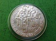 50 лет ассоциации инвалидов войны  1990 год Финляндия, 100 марок Серебро, 24 г родная капсула, отлич