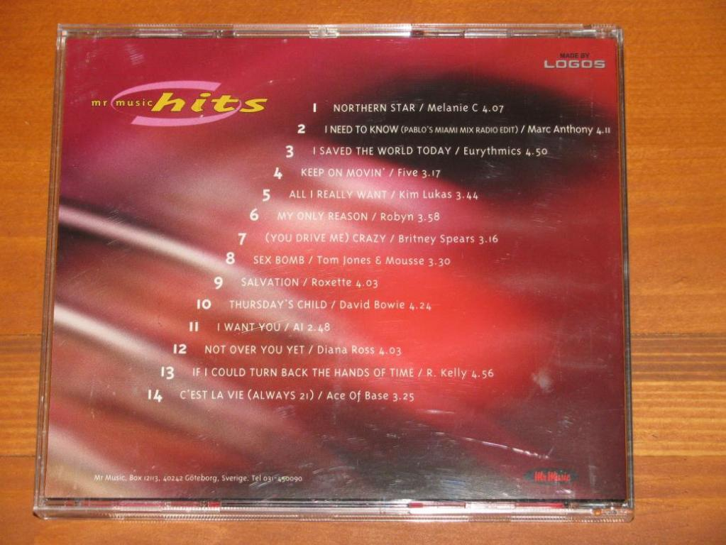 Various - Mr Music Hits 1. 2000 / CD / 2000 / Sweden