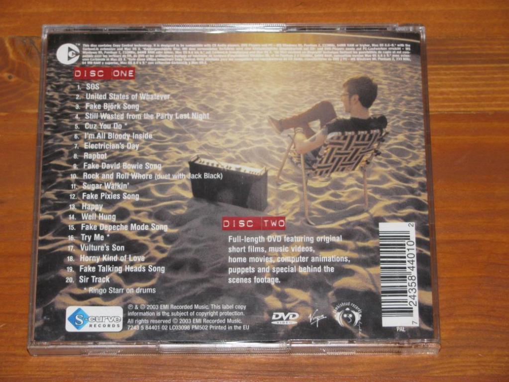 Liam Lynch - Fake Songs / CD+DVD / 2003 / Europe