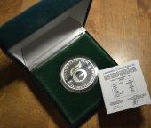Медаль 2001. 5 лет Газэнергопромбанку. Коммерческий банк. Серебро 925. 31.1. Коробка