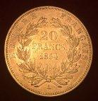Золотая монета 20 франков