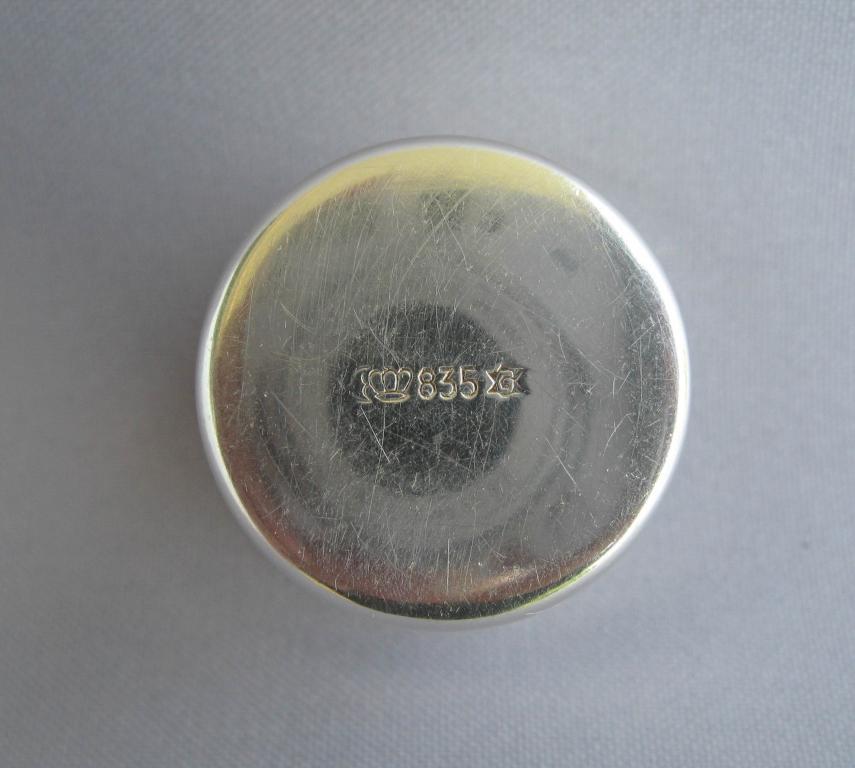 Стопка коньячная серебро 835 пробы 25 гр. объем Германия Якоб Гриммингер ЛЮКС