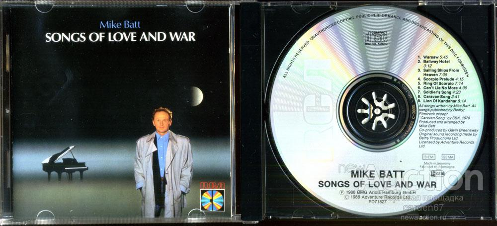 MIKE BATT =SONGS OF LOVE AND WAR= 1988 WEST GERMANY CD