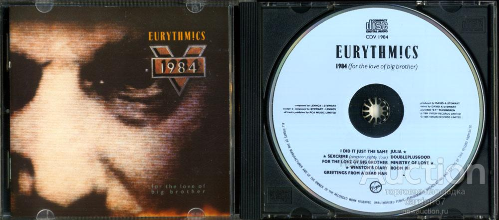 EURYTHMICS =FOR THE LOVE OF BIG BROTHER= 1984 WEST GERMANY POLYGRAM CD